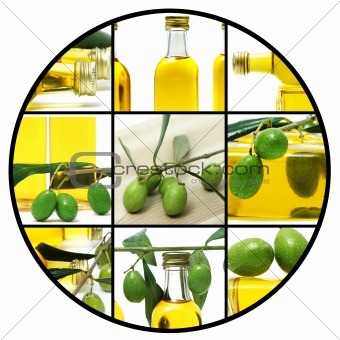 olive oil collage