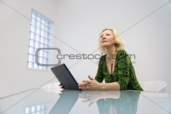Businesswoman at desk