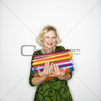 Businesswoman with workload