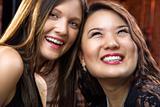 Pretty smiling young women