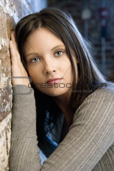 Pretty young woman portrait