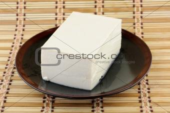 Tofu on plate
