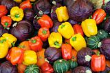 Assorted vegetable background