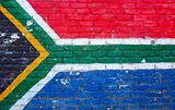 South African flag wall
