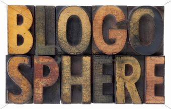 blogosphere - vintage wood letterpress types