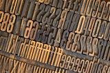 vintage wooden letterpress types background