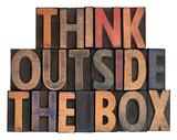think outside the box in vintage wood type