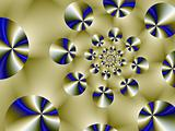 Blue and Gold Disk Spiral