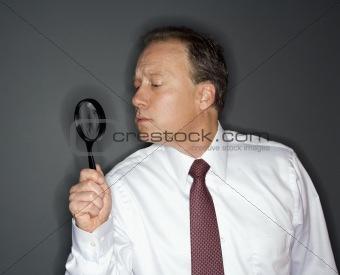 Businessman analyzing