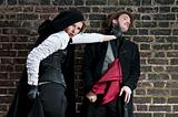 VIctorian woman strangling man