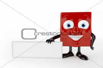3d characters with empty board