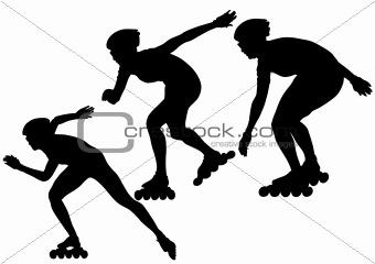 Skates people running