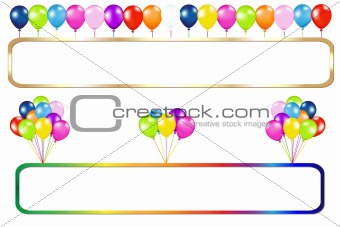 Frame With Balloons Bunches