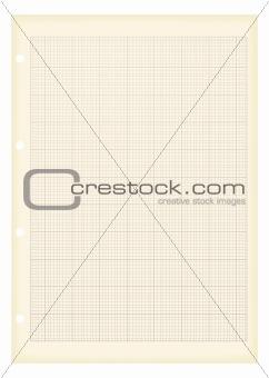 grunge a4 graph paper