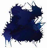 Vector blue blots