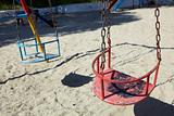 empty red swing