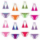 Color bikini