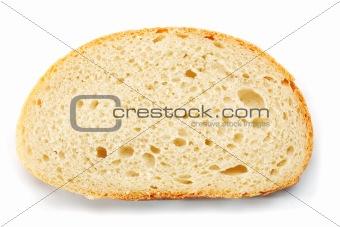 Slice of wheat bread.