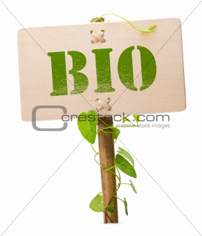 green and bio sign