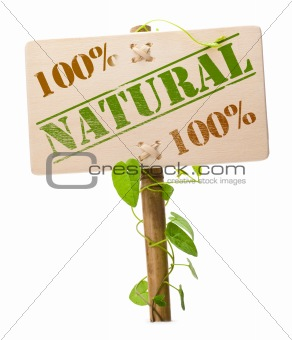 green natural and bio sign