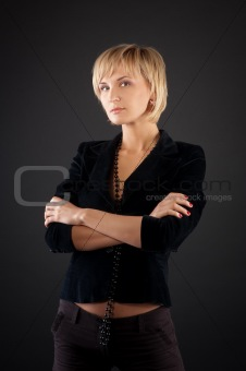 beautiful  blonde bussineswoman