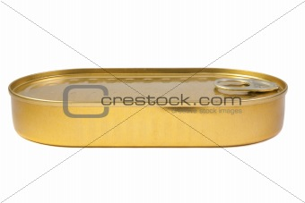closed gold metal tin