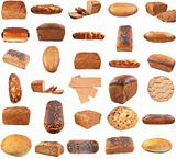 Collection of various bread