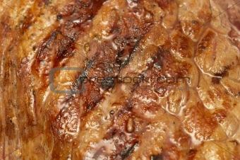 Grilled beef steak background
