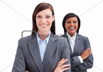 Two attractive business women