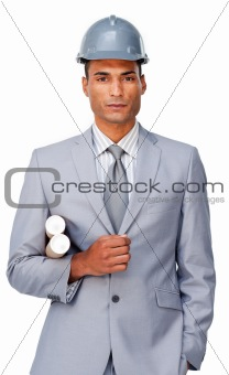 Portrait of an attractive afro-american architect