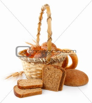 fresh bread in the basket