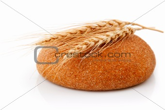 single fresh bread with corn