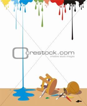 Painter stuff on the floor