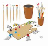 Painting materials collection