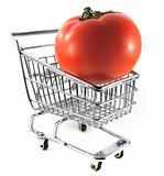 Tomato in shopping cart