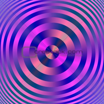 Blue and Pink Concentric Rings