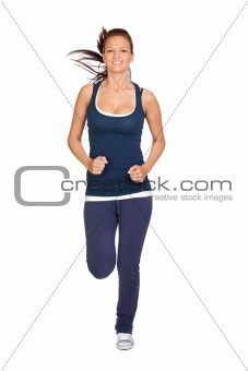 Attractive girl running