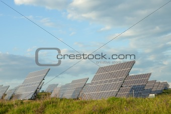 Solar panels collecting sunlight