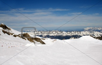Alpine ski slope