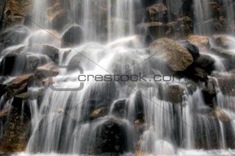 Slow motion blur waterfall
