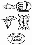 Fish food symbols