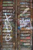 Graffiti wooden door