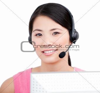 Asian customer service representative