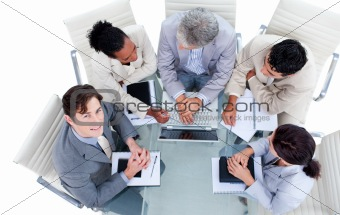 Charismatic international business people in a meeting