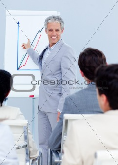 Business team showing ethnic diversity in a meeting