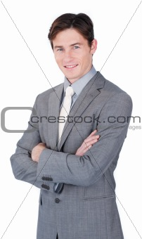 Charismatic young businessman standing