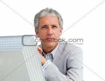 Portrait of a charismatic mature businessman