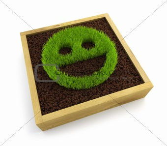 growing smiling face symbol