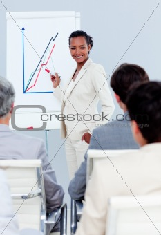 Charismatic businesswoman doing a presentation