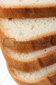 Sliced white bread .